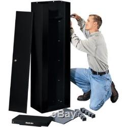 10 Gun 53 Long Safe Home Security Cabinet Lock Rifle Shotgun Steel Storage Box