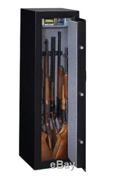 10 Gun Safe Electronic Lock FireProof Drill Resistant Rifle Shotgun Firearm Case