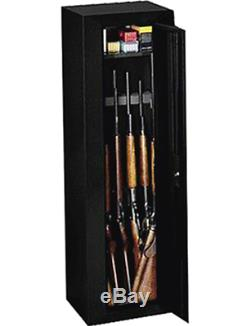 10 Gun Security Steel Cabinet Safe Rifles Shotgun Firearm Storage Locker Black