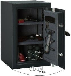 118-lb Home Hotel Office Safety Security Electronic Money Jewelry Lock Box Black