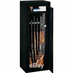 14 Gun Security Cabinet Stack on Rifle Safe Storage Locker Shotgun Firearm Lock