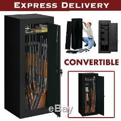 18 Gun Safe 54 Long Steel Lock Box Rifle Shotgun Storage Home Security Cabinet