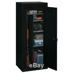 18 Gun Safe Fully Convertible Cabinet Shooting Storage Organizer Black Firearms