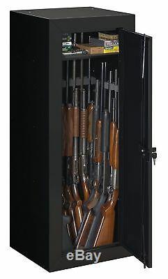 18 Gun Storage Cabinet Organizer Safe Box Rifle Big Rack Long Firearm Lock Ammo