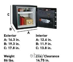 1.23 cu. Ft. Fireproof Safe and Waterproof Safe with Dial Combination lock