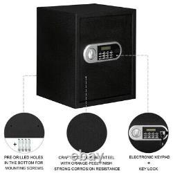 1.5L Digital Electronic Safe Box Keypad Lock Security Home Office Hotel Gun Cash