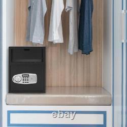 1.7 cu. Ft. Digital Safe Depository Drop Box Cash Home Security Lock Deliver Type