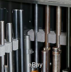 22 Gun Rifle Shotgun Cabinet Locking Security Storage Safe w FREE Handgun Case