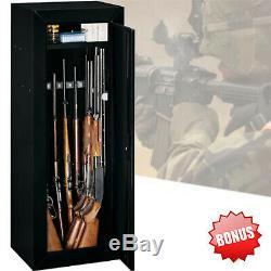 25 Gun 54 Long Safe Home Security Cabinet Lock Rifle Shortgun Steel Storage Box