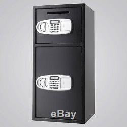 2.6 cu ft Double Door Digital Safe Depository Drop Box Safes Cash Security Lock