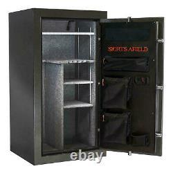 30-Gun Fire/Waterproof Safe with Electronic Lock, Door Storage Steel-Reinforced