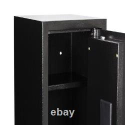 4/5 Gun Rifle Storage Security Cabinet Biometric Fingerprint Digital keypad lock