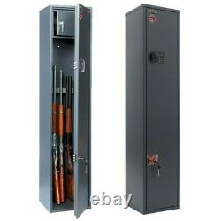 4 Gun Cabinet Security Steel Safe for Rifle Shotgun with Combination Lock 4.54 ft