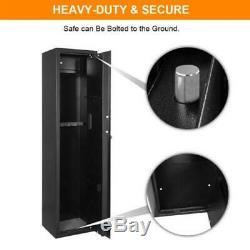 57 Mechanical 5 Gun Safe Rifle Shotgun Security Tall Box Large Electronic Lock