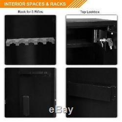 5-Gun Electronic Lock Large Rifle Shotgun Storage Cabinet Security Cabinet Safe