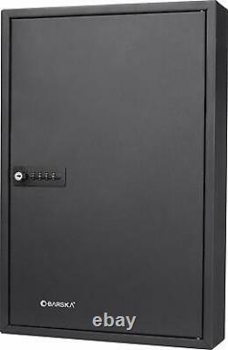 64 Key Storage Cabinet Combination Lock Box Safe Organize Wall Holder Dealership