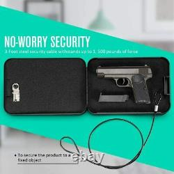 6PCS RPNB Portable Gun Safe Steel Box 3 Digit Combination Lock Christmas present