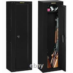 8-GUN SECURITY STORAGE CABINET Three Point Locking Safe Black Steel