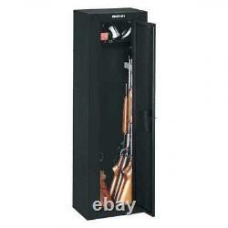 8 Gun Storage Cabinet Steel Rifle Shotgun Firearm Security Safe with Lock Black