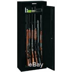 8-Rifles Gun Safe Security Cabinet Organizer Pistol Shotgun Locker Heavy Steel