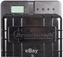 Arms Reach Bedside Biometric Fingerprint Sensor Hand Gun Firearm Security Safe