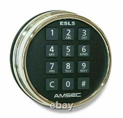 Amsec Illuminated Electronic Pivot Safe Lock Kit (Dial & Lock) ESL5 Chrome