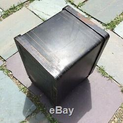 Antique 19th C. Ideal Cast Iron Safe 18x13x10 1/2 Combination Lock Works Bank