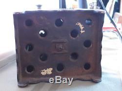 Antique Medallion Safe Bank. Copper Electroplate, Combination Lock Still Bank