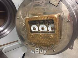 Antique Mosler Cannonball Time Lock Bank Money Safe Combination Dial Screw Door