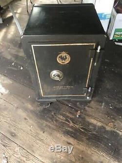 Antique Victor Safe & Lock Co Cincinnati Ohio 1885 Trademark With Combination