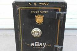 Antique Victor Safe & Lock Combination Safe CB Wood Owner