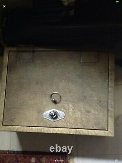 Antique Victor safe combination lock with removable shelve