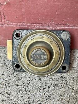 Antique brass yale vault safe combination lock