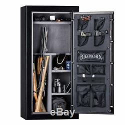 BIGHORN Electronic Lock Safe 19.1 CuFt Gun Safe, Fire Protection 59 X 28 X 20