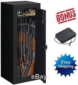 BRAND NEW 22 Gun 54 Long Safe Lock Rifle Shotgun Steel Storage Box