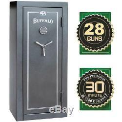 BUFFALO 28-Gun 12 Cu. Ft. Electric Lock Fire-Resistant Combination Gun Safe NEW