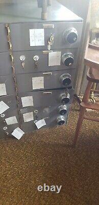 Bank Teller Vault Safe Deposit Box 12 door with keys & Combination Locks Diebold