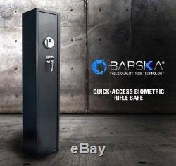 Barska Biometric Quick Access Rifle Safe AX11652 Fingerprint Home Defense Safe