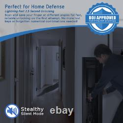 Barska Quick-Access Biometric Rifle Safe, Matte Black AX11652