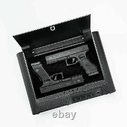 Biometric Fingerprint Pistol Safe Box Handgun Gun Security Storage Digit Lock