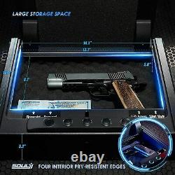 Biometric Gun Safe Pistol Handgun Fingerprint Combination Lock Metal Box Case