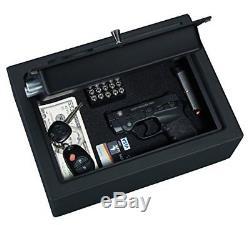 Biometric Handgun Safe Fingerprint Hand Gun Pistol Box Vault Security Lock Key