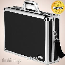 Black Laptop Brief Case Locking Combination Lock Secure Storage Organizer Box