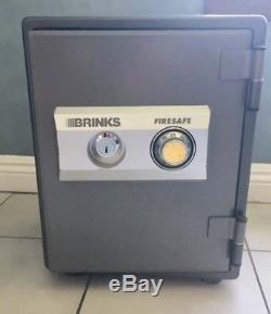 Brinks Fire Safe Grey and Black Duel combination and key lock