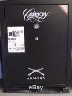Cannon Armory Series A54 80 Gun Hammertone Black Fireproof Safe