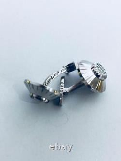 Cartier Vintage Estate Rare 18K White Gold Safe Combination Lock Cuff Links