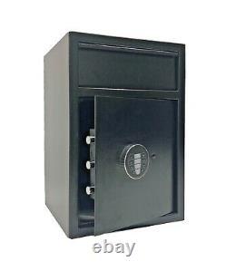 Cash Drop Depository Safe Vault Electronic Lock Back Up Key