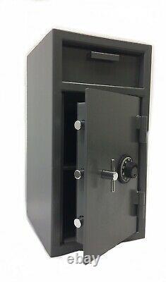 Cash Drop Safe Box Vault with Mechanical Dial Combination Lock