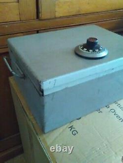 Chubb Manifoil Combination Lock Mk IV Safe / Document Box Ex MOD Mk4