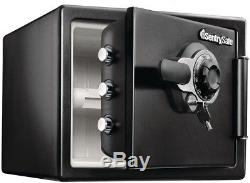 Combination Dial Lock Safe withKey Home Security Protect Fire Proof Steel Sentry